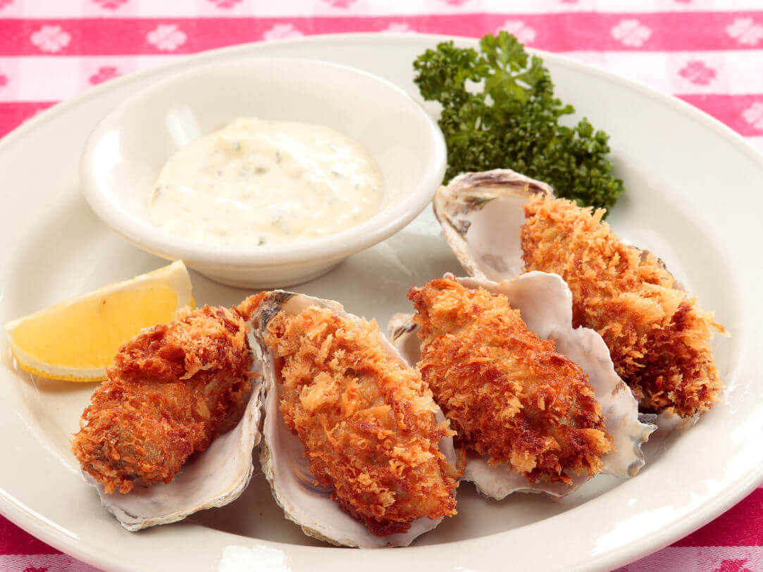 Fried Oysters Japanese style tartar sauce